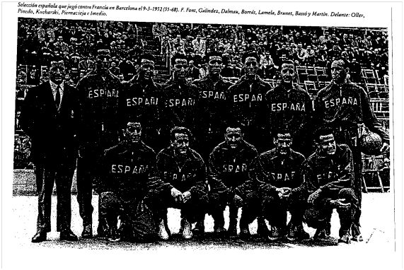 barcelona 1952 seleccion española